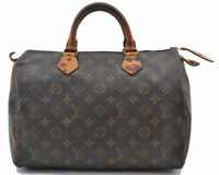 Authentic Louis Vuitton Monogram Speedy35 Hand Bag M41524 LV B2398