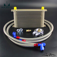 Champagne 13 Row AN10 Oil Cooler w/ 3/4*16 & M20*1.5 Filter Adapter Hose Kit