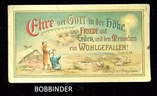 Vintage German Holycard Glory To God In The Highest And On Earth Peace Good Will