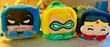 "3Kawaii Cubes Batman Wonder Woman NWT 2.5"" Bean Plush Wish Factory Series 1"