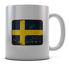 Sweden Swedish Flag Mug Cup Present Gift Coffee Birthday
