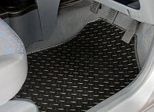 PEUGEOT 108 (2014-ON) TAILORED RUBBER CAR MATS WITH SILVER STRIPE TRIM [3412]