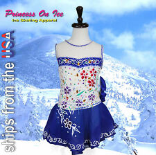 CHILD MEDIUM New Figure Ice Skating Dress Baton Twirling Dance USA SELLER