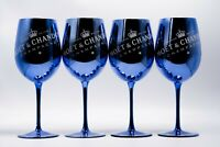 MOET CHANDON Blau Gläser IMPERIAL CHAMPAGNER LIMITED IBIZA EDITION NEU 4 STÜCK