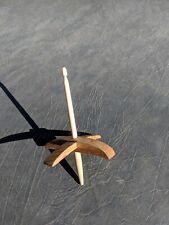 Handmade Mini Oak Turkish Drop Spindle Whorl