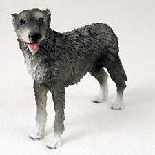Irish Wolfhound Figurine Hand Painted Collectible Statue