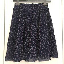 Purple Flocked Flower Pattern Skirt Tulle Overlay Handmade One Size EST. Size 10