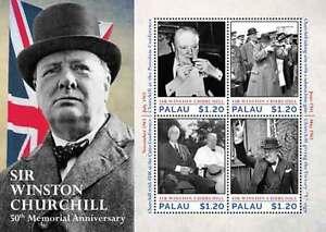 Palau - Sir Winston Churchill - Sheet of 4 stamps - 2015 MNH