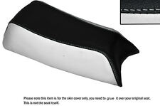 Blanco & Negro Custom encaja Puch Magnum X 50 De Cuero Funda De Asiento Solo