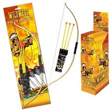 2x Play Bow and Arrow Junior Toy Set Archery Cowboys Indians Wild West Garden