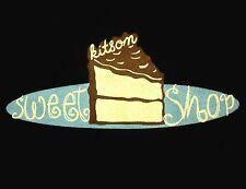 KITSON SWEET SHOP juniors lrg T shirt bakery design Cake logo tee J-Pop