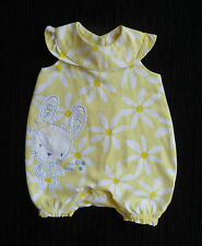 Baby clothes GIRL premature/tiny 7.5lb/3.4kyellow/white daisy dress-style romper