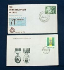Two India FDC Stamps 1968/1974 Series 'Stamps & Army'- Bombay Postmarks