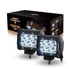 """Auxbeam 2Pcs 4"""" LED Light Bar 18W LED Pod CREE Driving Lamp Spot Beam 30 Degree"""