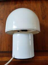 Lampe Champignon plastique blanc Vintage style Guzzini