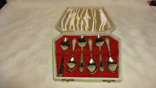 Vintage Boxed Set Of 6 Ornate Silver Plated Tea Spoons - EPNS A1
