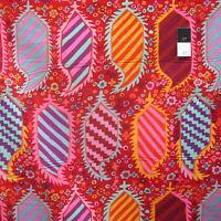 Kaffe Fassett PWGP153 Striped Heraldic Red Cotton Fabric By The Yard