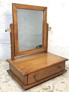 Antique C.1915 Mission Arts Crafts Dresser Mens Shaving Mirror Drawer Vanity VTG