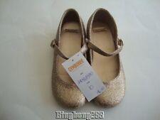 Gymboree CITY SPARKLE Mary Jane MJ Gold Sparkle Glitter Shoes Girl Size 10 NWT