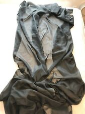 """Large Sheer Swag Scarf Valance Window Curtain Black Polyester 59.5"""" x 218"""" Long"""