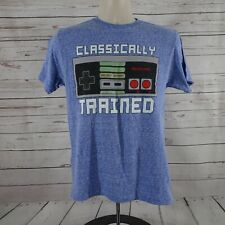 Nintendo Entertainment System Men's Classically trained T-Shirt Blue Small
