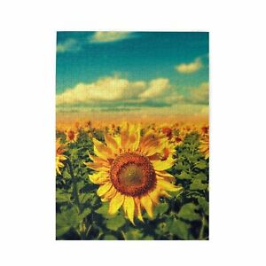 Sunflower Wooden Jigsaw Puzzle Adults Kids Gift Educational Game DIY 300-1000P