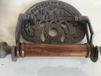 St Pancras Railway Station Vintage style TOILET ROLL HOLDER sign metal