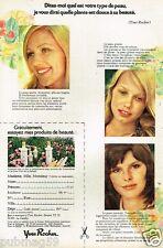 Publicité advertising 1973 Cosmétique Crème Yves Rocher