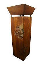 Edelrost Rostsäule mit Blume und Pflanzschale Gartendeko Säulen Metall Rost