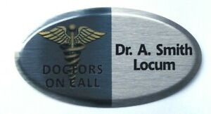 Oval Name Badges-Full Colour Personalised-ID/Staff/Corporate- Magnetic or Pin