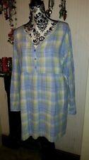 Fab  SALTROCK Tunic/Kaftan, Green/Blue Check, Size 18