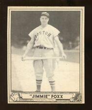 "1940 Play Ball ""JIMMIE"" FOXX Baseball Card #133 EX No Creases (JO238)"
