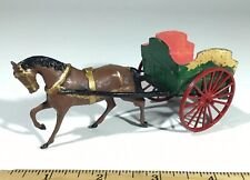 BRITAINS LTD. WAGON AND HORSE VINTAGE/ANTIQUE LEAD TOY FIGURINES