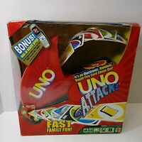 UNO ATTACK Mattel Card Game With Electronic Card Launcher NEW