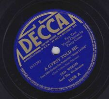 Ted Weems on 78 rpm Decca 1694: A Gypsy Told Me/In My Little Red Book E- 1938