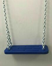 Blauer Schaukelsitz mit Schaukelkette
