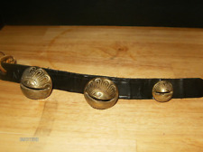 Vintage Rare Older Sleigh Bells On Leather Strap Mps percussion studio recording