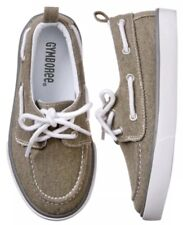 GYMBOREE Spring Forward Boat Shoes Boys Khaki Tan NWT Size 11
