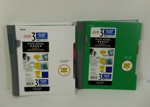 2 Mead Five Star Advance Spiral Notebook 3 Subject College Ruled Movable Divider