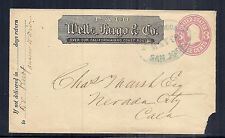 US Commercial Cover from Wells Fargo & Co, San Jose Blue Oval Cancel - May 28*