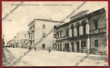 SASSARI OLBIA 15 TERRANOVA PAUSANIA - MUNICIPIO Cartolina viaggiata 1918
