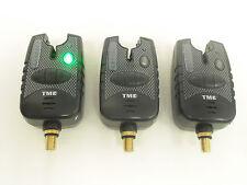 3 x Carp AVVISATORI-Verde Corsa LED's, Dropbacks, Jack 2.5 mm, led di aggancio