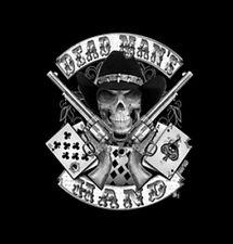 Dead Mans Hand Aces Skull Guns Revolvers T-Shirt Tee