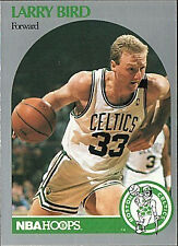 1990 - 1991 Fleer Hoops Larry Bird Boston Celtics #39 Basketball Card