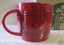 New 2014 Starbucks Valentine's Day Raised Red Heart 14 oz Mug