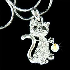8d8234752afc36 Nuovo W Cristallo Swarovski Kitty Gatto Animale Domestico Ciondolo