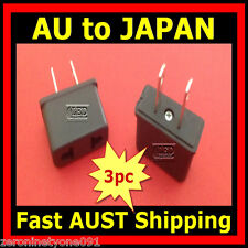 AU AUST NZ EU to Japan JP Style AC Power Travel Plug  Adapter Converter 3pc Mini