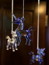 Once Upon A Time Snow White Glass Unicorn ornament (blue) create your own mobile