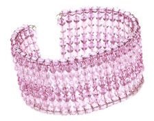 Stunning Pink Shimmering Beaded Statement Inspired Bracelet Unique(Zx68)