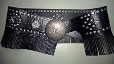 Free People black leather Eden hip belt M/L